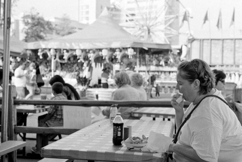 Fair food at the Montgomery County Fair  Minolta SRT 101