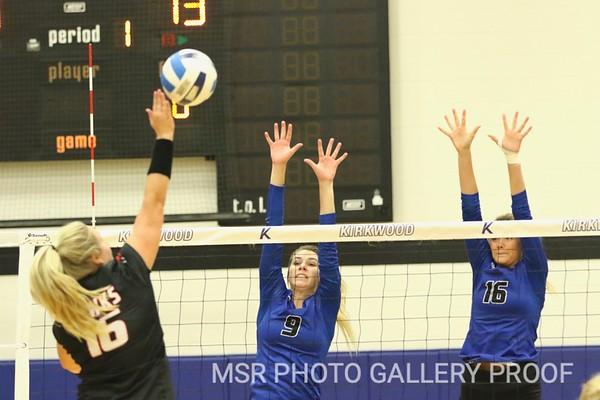 Northeast vs. Kirkwood Volleyball  9/25/19