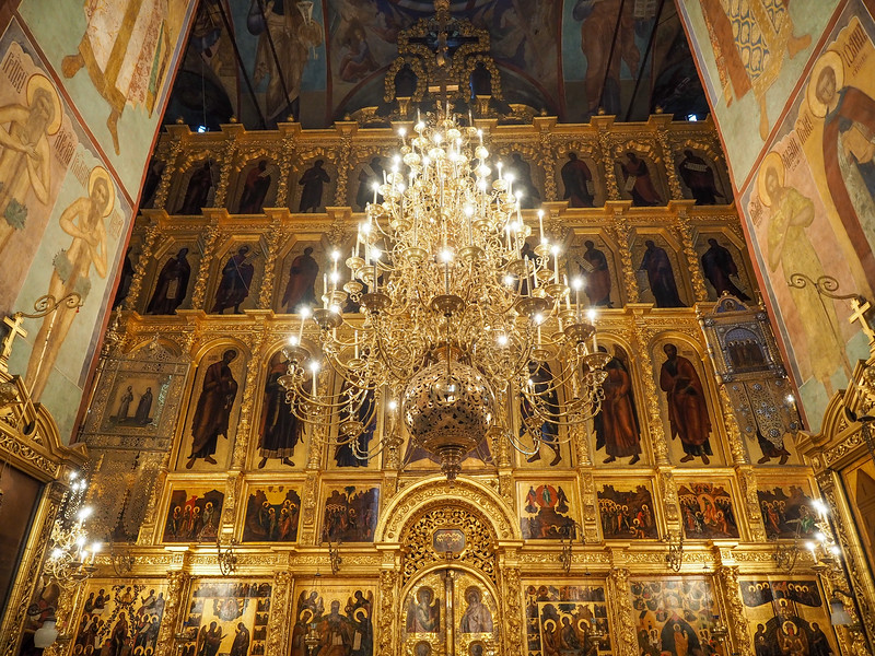 Inside the Cathedral of the Assumption, Sergiev Posad