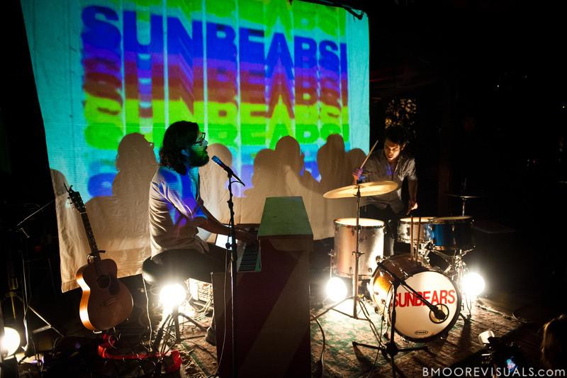Jonathan Berlin and Jared Bowser of Sunbears! perform on November 26, 2010 at New World Brewery in Ybor City, Tampa, Florida