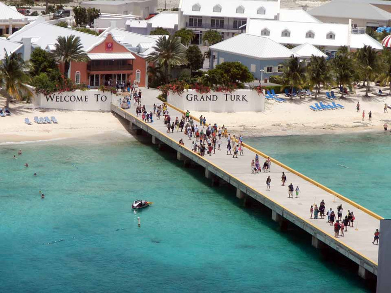 Grand Turk.  We'll be doing some snorkeling today! Too bad I forget to bring the camera along for a swim (it's waterproof). Dang!