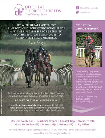 Ditcheat Thoroughbreds Marketing Commission
