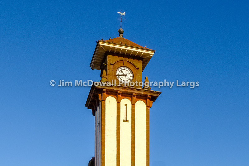 The Famous Clock Tower of Wemyss bay Railway Station & Pier Scotland.