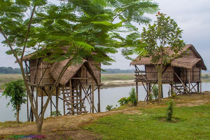 Buildings  Along the Rapti River, Nepal