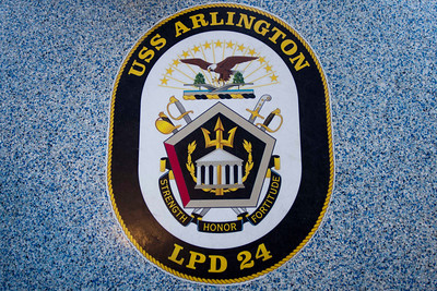 USS Arlington arrival in Norfolk, VA, 22 Mar 12
