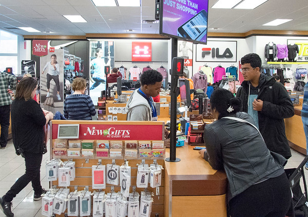 11/29/19 Wesley Bunnell | StaffrrA steady stream of customers check out at Kohl's during their Black Friday sale.