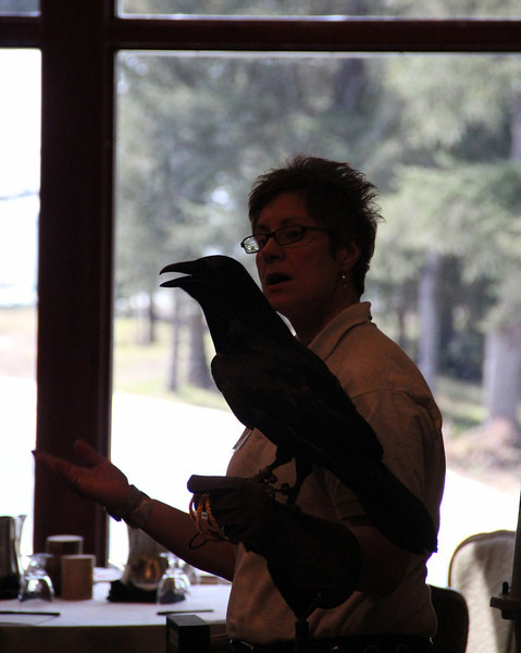 DeAnn and Crawford the raven