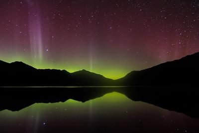 Aurora Australis - 28 May '17, Lake Wanaka