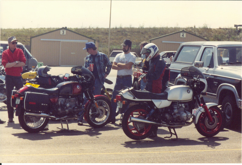 Pit, VROOM track and tune day Mountain View Motor Sports Park, Colorado 1995 BMW R100S