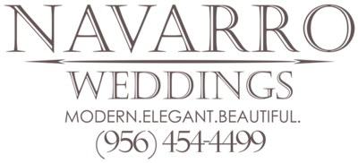 Navarro Weddings Logo with number dark