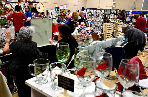 10/27/2018 Mike Orazzi | Staff Items for sale during the Bristol Senior Center's annual craft fair on Saturday in Bristol.