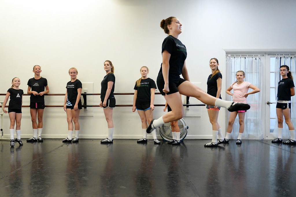 . Allyssa Yabuno, 13, of the Tir Ruaidh Irish Dance Company, participates in rehearsal on Thursday, June, 26, 2014 at School of International Ballet in Redlands, Ca. The company has enjoyed much success over the last year, with multiple dancers winning and placing in The World Irish Dance Associations� European and World Championships. (Photo by Micah Escamilla/Redlands Daily Facts)