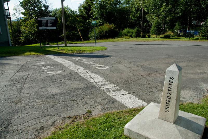 US-Canada border in Derby Line, Vermont