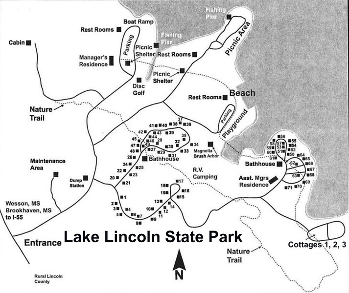 Lake Lowndes State Park (Campground Map)
