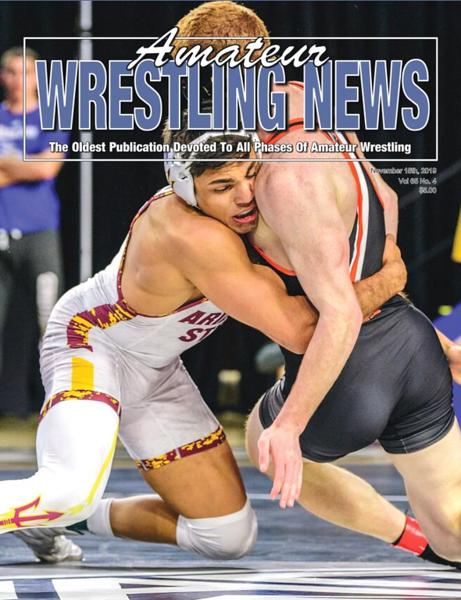 Amateur Wrestling News Cover, Nov, 2019