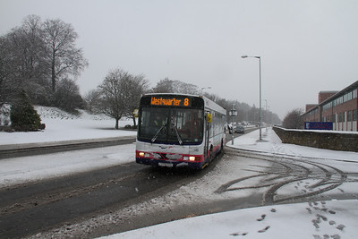 Falkirk Buses in the Snow