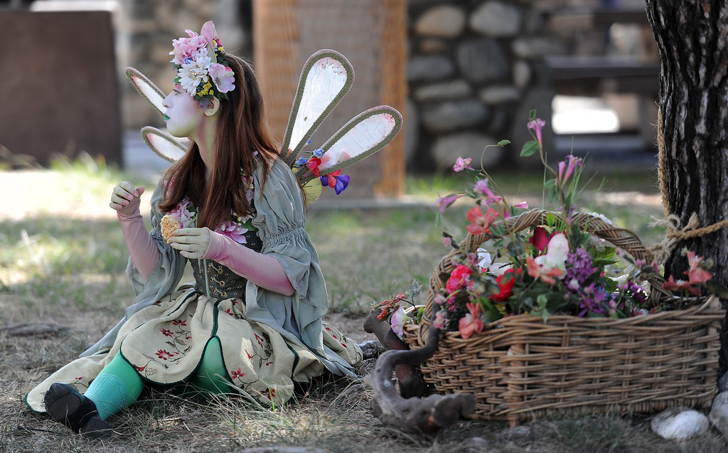 . A pixie on opening day of the Renaissance Pleasure Faire at Santa Fe Dam Recreation Area in Irwindale, Calif., on Saturday, April 5, 2014. 