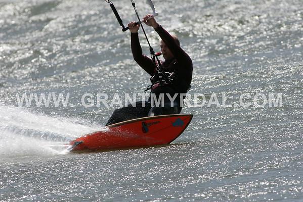 orange kiteboard