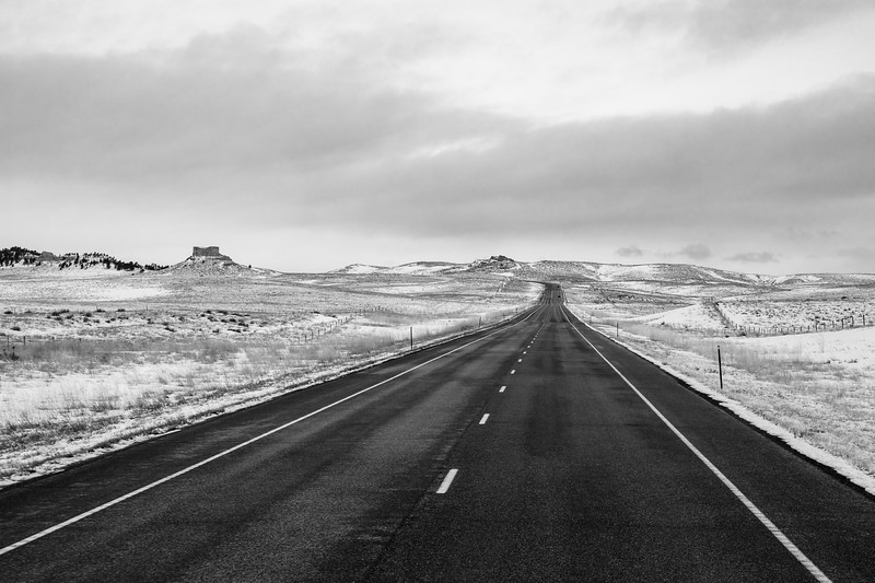 Eastern Wyoming Winter Road