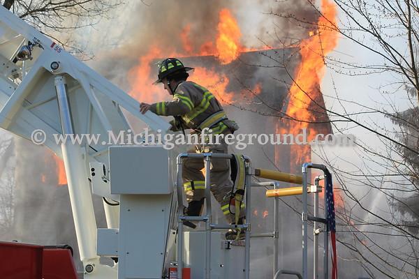4/2/17 - Dansville live burn training exercise, 2135 S. Meridian Rd