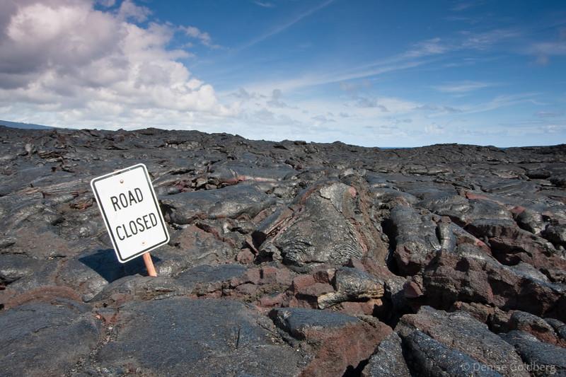 Road closed? No kidding!