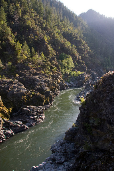 The Rogue River slips through the lower Mule Creek Canyon.