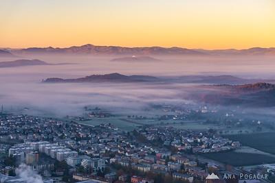 Sunrise from Stari grad - Nov 3, 2015