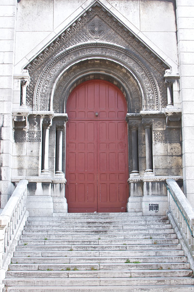 Side door of Sacre Coeur