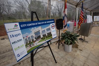 Jonesboro City Center Groundbreaking 3/31/21