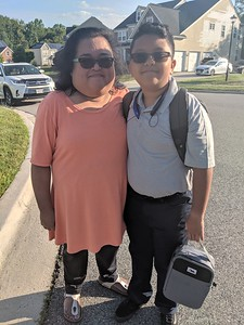 2019-09-03 Anjelle (Grade 10) and Tre's (Grade 6) 1st Day of School