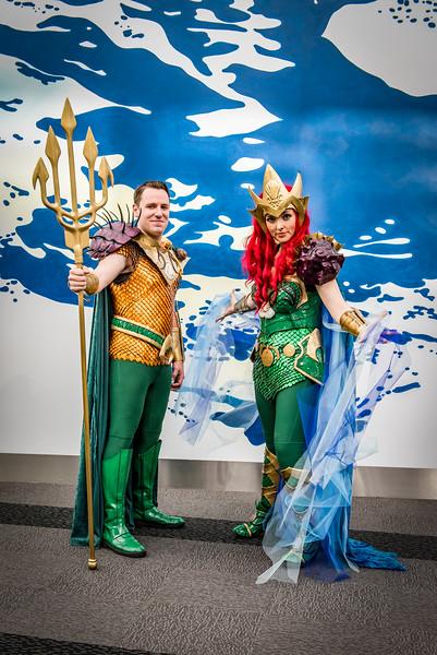 Aquaman and Woman