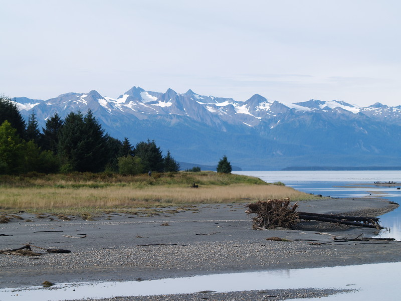 The Chilkats on Lynn Canal from Eagle Beach State Park