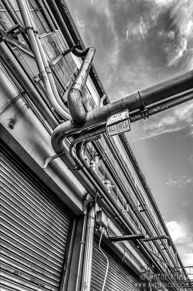 Pipes - Black & White Photography by Wayne Heim