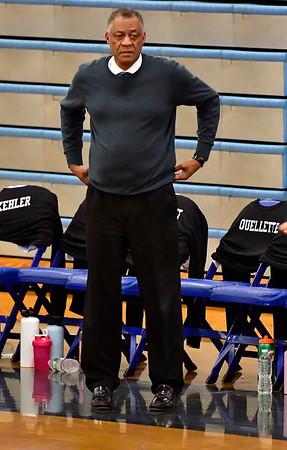 2/6/2020 Mike Orazzi | StaffrBristol Eastern Girls Basketball Coach Tony Floyd in Bristol Thursday night.