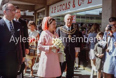 Princess Margaret visits Friars Square, July 1970