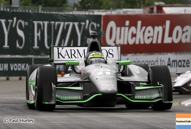 June 2: Tony Kanaan during the Chevrolet Detroit Belle Isle Grand Prix.