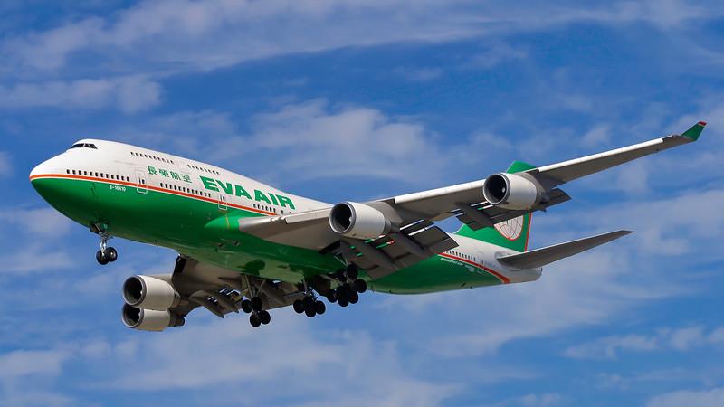 B-16410. Boeing 747-45E. Eva Air. Los Angeles. 180905.