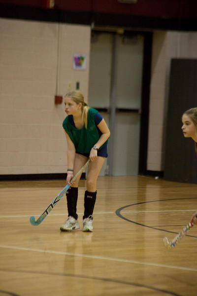 Annie in the Indoor hockey camp.