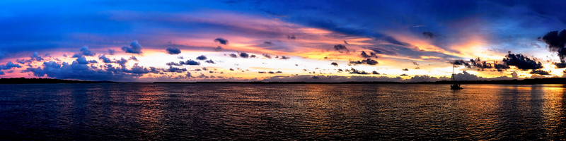 Super Panorama Sunrise Seascape. Australia