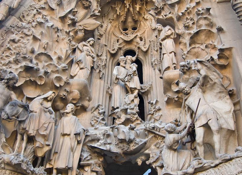 Sagrada Família, Nativity façade. (Dec 12, 2007, 02:52pm)