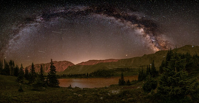 Perseids over Arapaho Pass