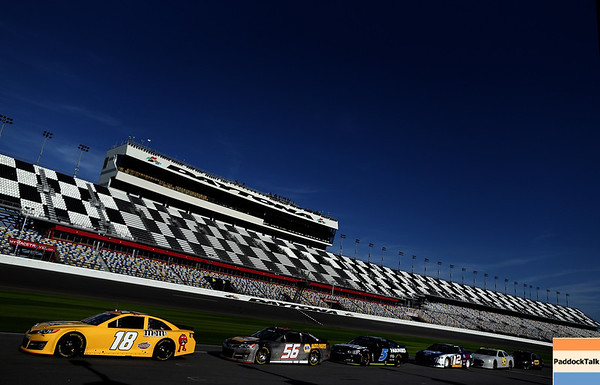 during the NASCAR Sprint Cup Preseason Thunder testing at Daytona International Speedway on January 11, 2013 in Daytona Beach, Florida.