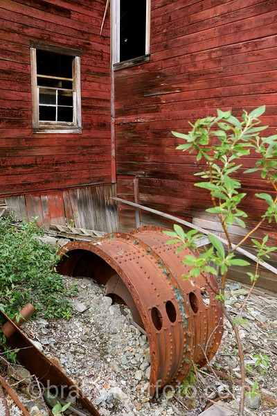 Behind the Leaching Plant