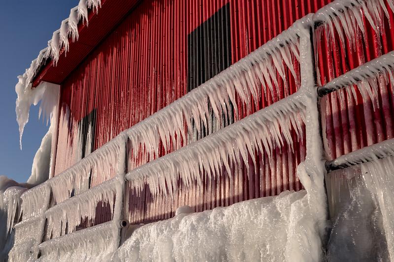 Icy Railing