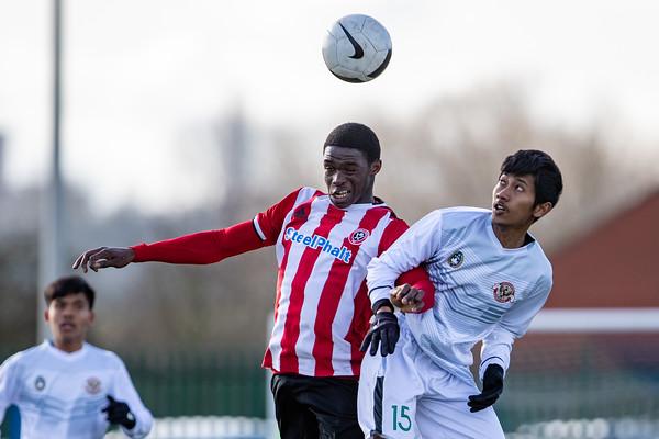 Garuda Select XI vs Sheff Utd U18s 12th Feb 2020