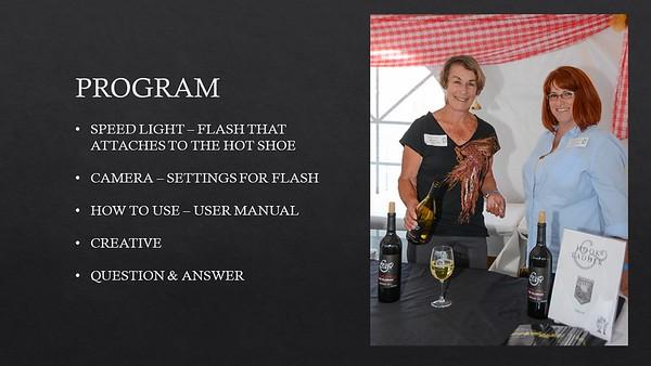 Flash Presentation at Santa Rosa Photographic Society
