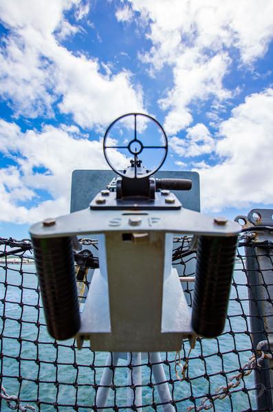 USS Missouri  Deck Gun
