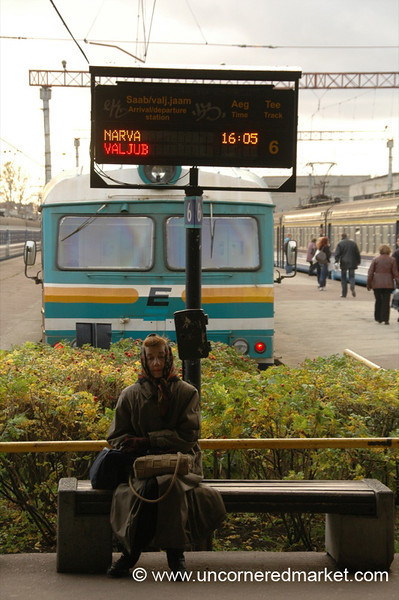 Waiting for Train - Tallinn, Estonia