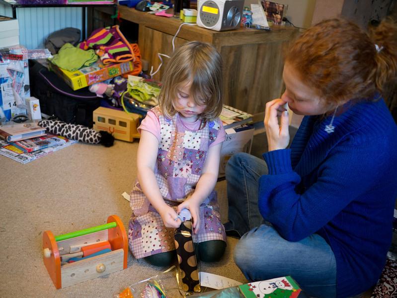 Juliette wondering what her next present is