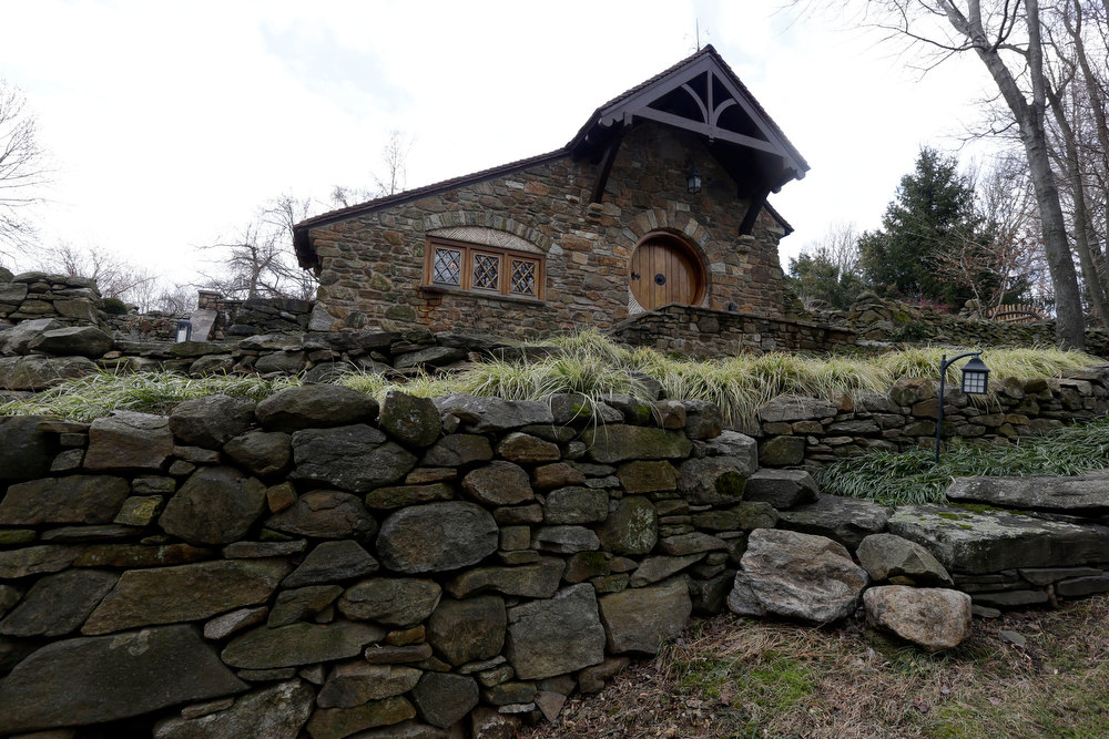 Description of . Shown is an exterior view of the ìHobbit Houseî Tuesday, Dec. 11, 2012, in Chester County, near Philadelphia. Architect Peter Archer has designed a ìHobbit Houseî containing a world-class collection of J.R.R. Tolkien manuscripts and memorabilia. (AP Photo/Matt Rourke)